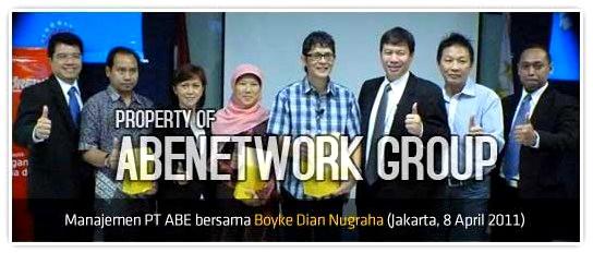 Boyke Dian Nugraha sebagai konsultan Resmi Distributor Produk Pasutri PT.ABE